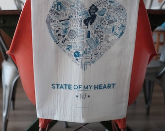 State of My Heart New Jersey Dish Towel