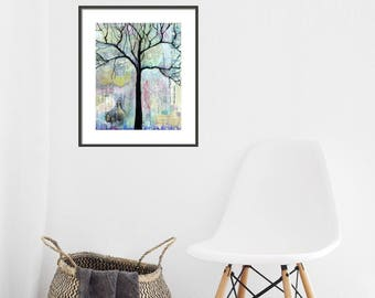 Wet & Wild Tree Print, Wall Art, Home Decor, Gift for Mom, Gift for Dad, Tree Print, Pattern, Nature Art, Housewarming Gift, Wall Art Print