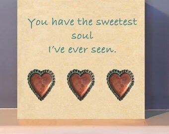 You have the sweetest heart!  Wood wall art.   Anniversary present. Positive inspiration.  Gift of kindness.