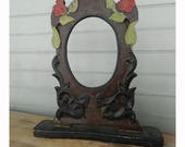 Antique Carved Wood Standing Frame
