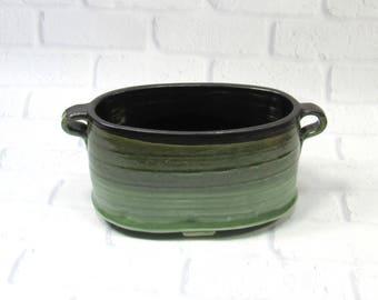 Oval ceramic planter - Oval vase - oval bowl - succulents planter - flower pot - fruit bowl - accent piece - kitchen decor - serving bowl