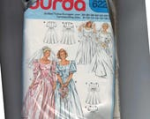 Misses Sewing Pattern Burda 6226 Misses Wedding Dress Bridal Gown Bridesmaid Sweetheart Neckline Full Skirt Size 8 10 12 14 16 18 20 UNCUT