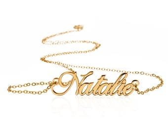 24K Gold plated - Make Your Gift Personal Name Necklace - Custom Name Necklace - Personalized Any Name Necklace