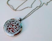 SALE Silver Clouds Magnetic Closure Locket Essential Oil Aromatherapy Diffuser Necklace