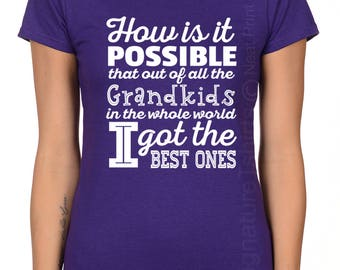 Best Grandma Shirt Womens T Shirt Tee Ladies Christmas Gift for mom Funny Humor Gift Present Baby shower Pregnancy Announcement Reveal pink
