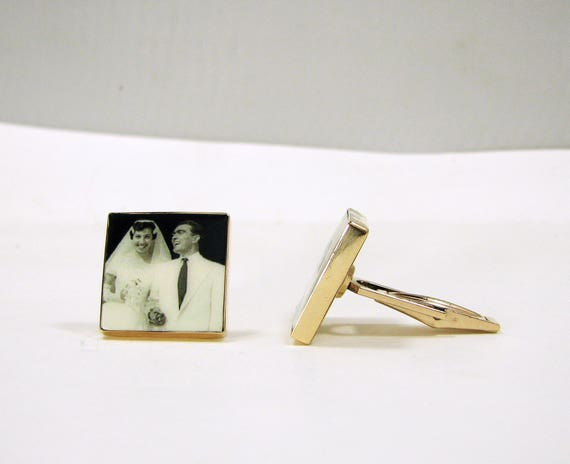 14K Gold Filled Photo Cuff Links