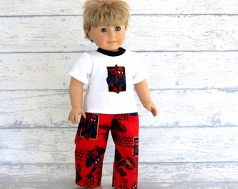 18 inch Boy Doll Comic Book Hero Pajamas