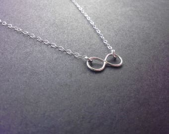 Sterling Silver, Inifinity, Eternity, Endless Love, Necklace, Mother, Daughter, Sister, Best Friend, Girlfriend, Gift, Figure Eight