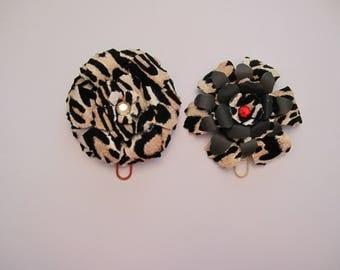 Large animal print flower clips