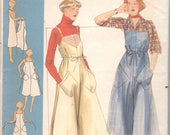 1970s Butterick 5449 Misses Back Wrapped Culotte Jumper Pattern  GIL AIMBEZ  Womens Vintage Sewing Pattern Size 8 Bust 31 UNCUT