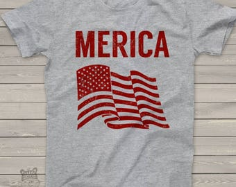 SALE - ships in time 4th SALE - America shirt - American flag merica tshirt - perfect for July 4th festivities MFT