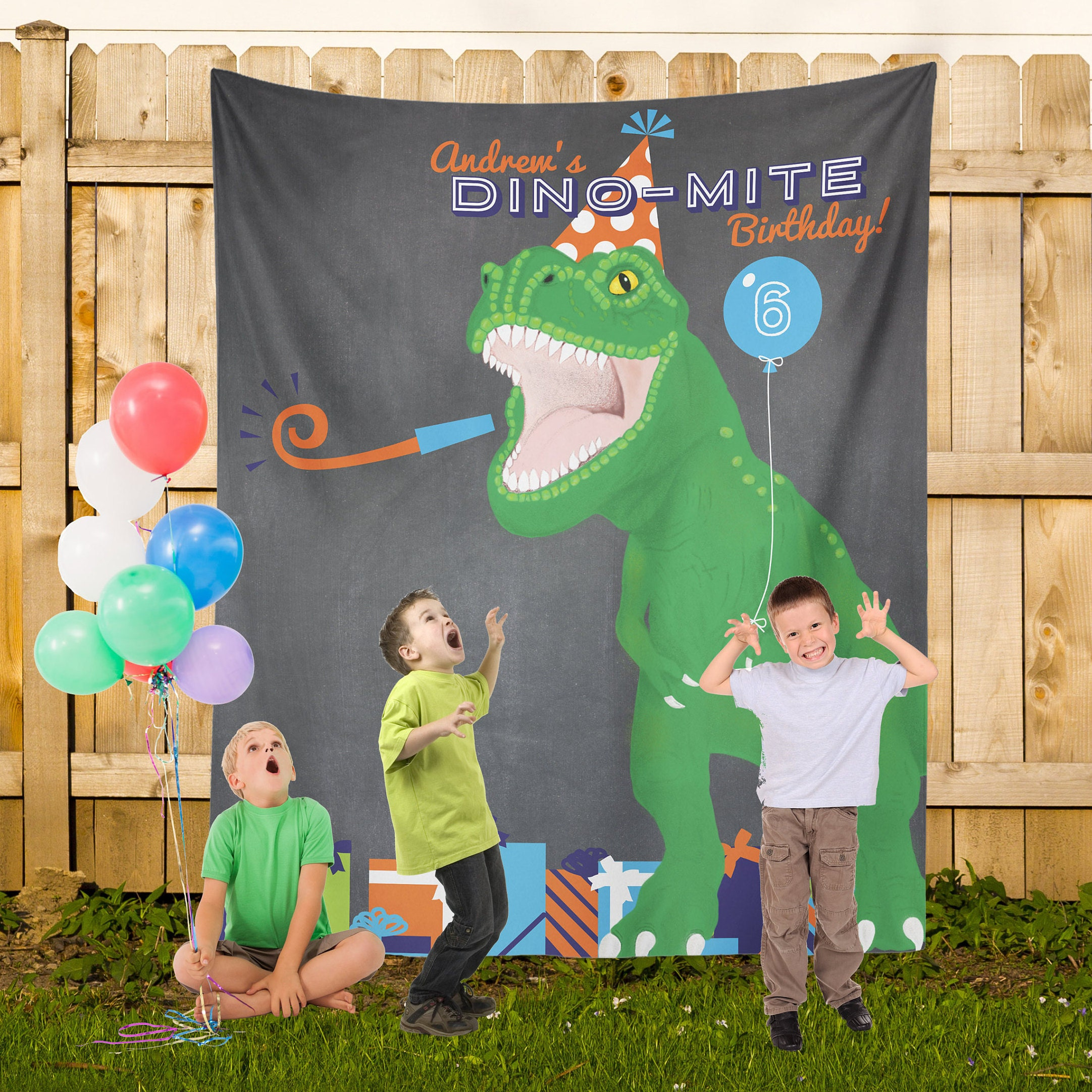 Dinosaur Birthday Party Dino Party Banner Dinosaur Party