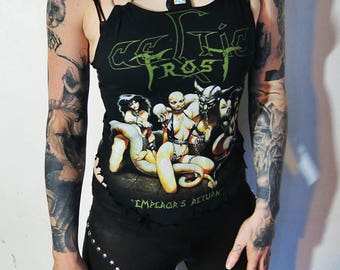 Celtic Frost Studded Harness Tank Top