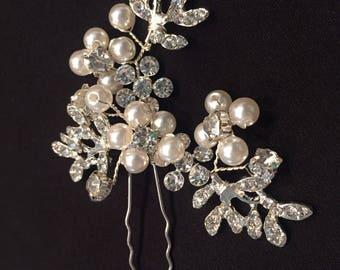 Bridal Rhinestone Hair Stick, Decorative Hairpin, Wedding Hairpin, Bridal Haripin (R930)