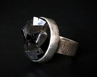 Black Mountain Andradite Garnet Ring