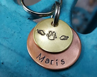 Memorial keychain , Lost pet, Pet owner gift, Angel Charm, Pet memorial charm, Memorial gift, Angel cat, Angel dog, Memorial keychain gift