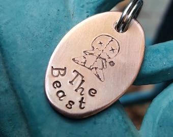 Voodoo oval pet tag,  voodoo id tag, voodoo dog tag, voodoo cat tag, voodoo doll tag