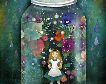 Alice in a jar (Alice in Wonderland) - open edition print