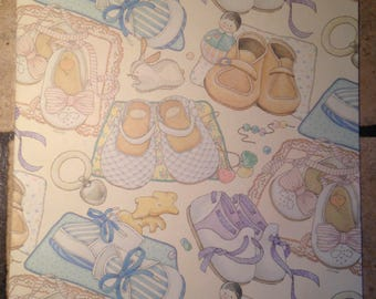 Baby Shoe Baby Shower Gift Wrap