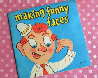 Vintage Making Funny Faces Activity Booklet Unused