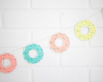 Donut Banner - Donut Garland - Donut Grow Up Party - Donut Party Banner - Donut Party Garland - Donut Party - Donut Themed Party - Donuts