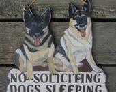 GERMAN SHEPHERD Custom Wood Dog Sign - Original Hand Painted