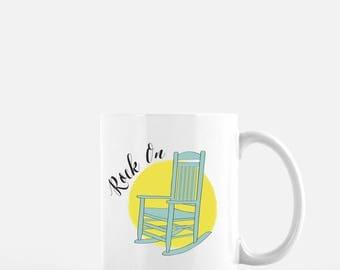 Coffee Mug, Rock On, Introvert Mug, Old Soul, Funny Coffee Mug, Don't touch me, Funny Gift, Gag Gift, Funny Mug, Coworker Gift, Quirky Mug