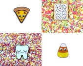 SECONDS SALE  - Pizza Pin - Pop Tart Pin - Candy Corn Pin - Sweet Tooth Pin - Cute Pins