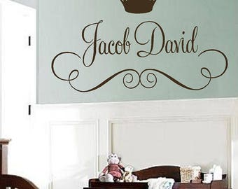 Prince Wall Art | Prince Wall Decals | Prince Name Decal | Boy Nursery Decor | Name Decal | Boy Decals | FN0627