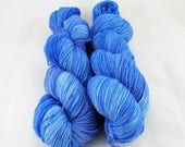 Hand Dyed Semisolid Sock Yarn - Flowering Flax