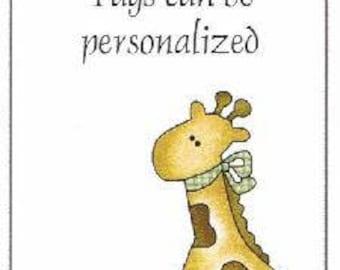Baby Giraffee Baby Shower Favor Tags ~ H184