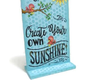 Create Sunshine Sign   Tole Painted Sun Sign   Hand Painted Standing Sign
