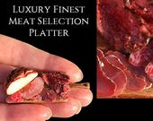 Luxury Finest Meat Selection Platter - Artisan Handmade Miniature in 12th scale After Dark miniatures.