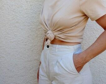 Vintage T Shirt Sand Short Sleeve Summer Tee