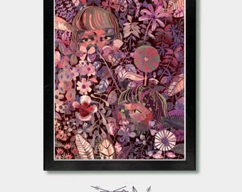 Floral, Wallflower. Flowers, Girls, Pastel, Wall Flower, Pastel Goth, Witchy, Boho, Boho Flowers, Girls Boho, Goth, Woodland, Colorful
