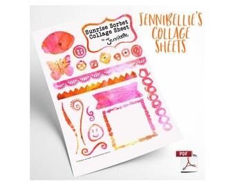 Sunrise Sorbet Digital Collage Sheet by Jennibellie