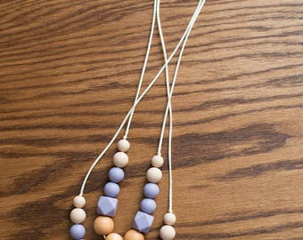 Teething Necklace - Natural Plum - Fall Winter Collection