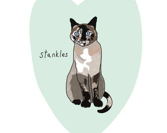 Custom Pet Portrait - Quirky Illustrated Pet Drawing - Digital Download