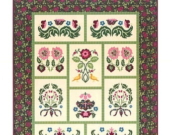 Morris Meadows Sampler Quilt. Block of the Month pattern by Michele Hill