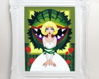 Don't Feed the Plants: Little Shop of Horrors Audrey 8x10 Fine Art Print