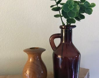 Vintage Myrtlewood Mini Vase