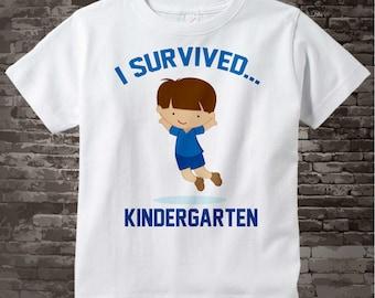 I Survived Kindergarten Shirt Kindergarten Graduate Shirt Child's Back To School Shirt 05162012j