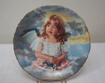 Vintage Reco Angel Plate - Precious Angels