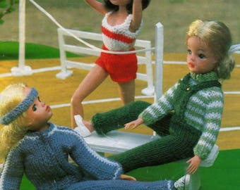 PDF Sport Clothes Knitting Pattern for Sindy and similar teen dolls