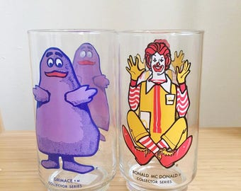McDonald's Collector Series Cups Ronald & Grimace