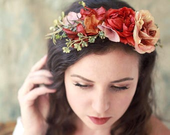 bohemian hair styles flower crowns and bridal hair accessories by gardensofwhimsy 2597