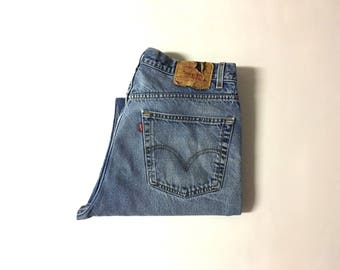 Vintage Men's 90's Levi's 505 Jeans, Straight Leg, Red Tab, Denim (W36)