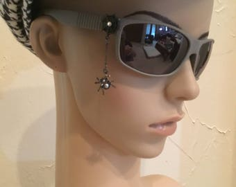 Smoke Grey Sunglasses with Spider  Charm , Charmed Sunglasses , Spider Sunglasses