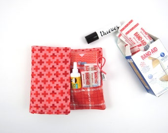 First Aid Kit - Hazelwood - red cross, emergency kit first aid pouch medicine bag travel gift
