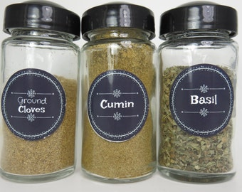 Chalkboard Style Spice Jar Labels Set of 80